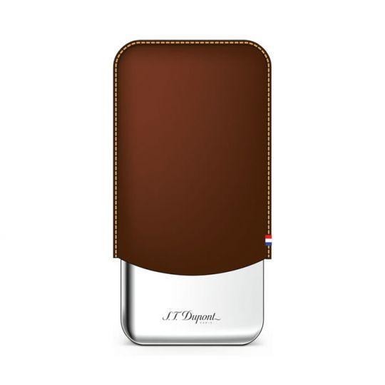 S.T. Dupont Cigar Case Brown 3s