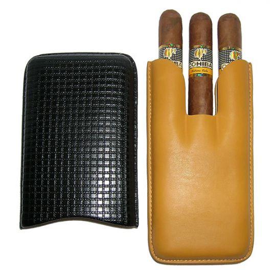 Cohiba Siglo IV + 3er Leder-Etui gelb-schwarz