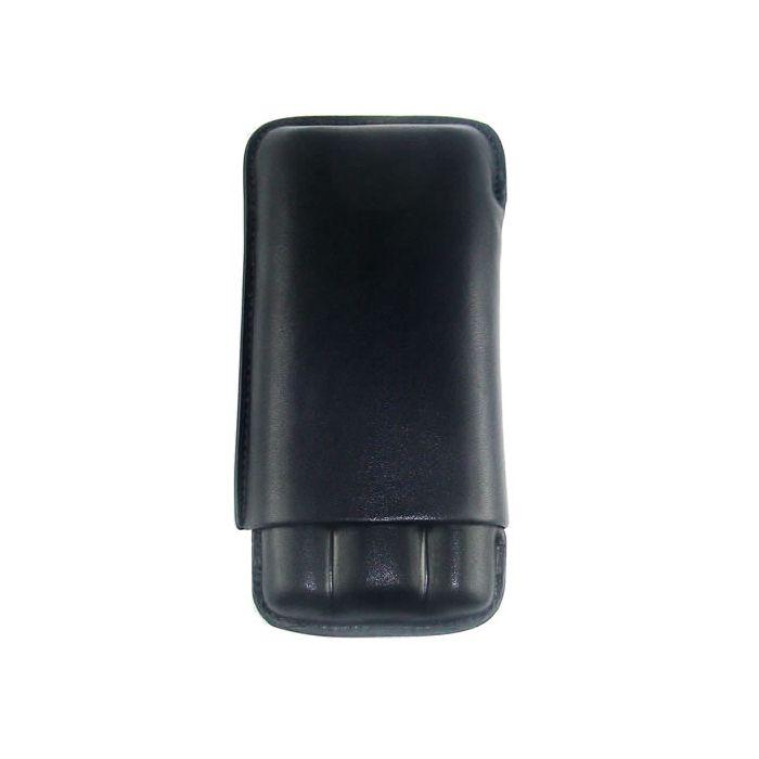 Hoyo de Monterrey Petit Robusto + 3er Leder-Etui schwarz