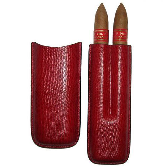 Partagas Serie P No.2 + 2er Leder-Etui rot