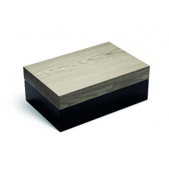 Zino Humidor Ayous Grey-Green Black Lacquer