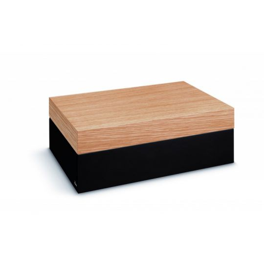 Zino Humidor Oak Black Lacquer