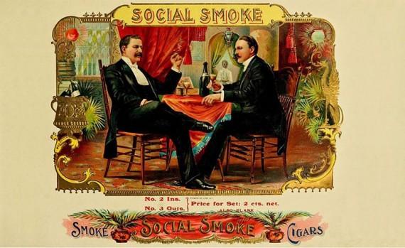 Auch ohne Frack  und ohne Champagner  funktioniert der Social Smoke.